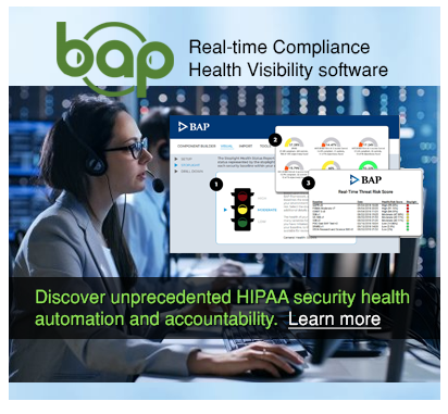 BAP is Real-time Compliance Health Visibility software